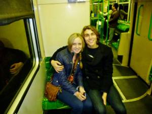 Ben and I on the tram!
