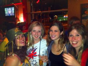 Australian themed party at the welcome week