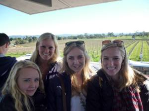 Wine tasting in the Yarra Valley