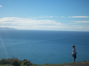 At the top of Mount Maunganui