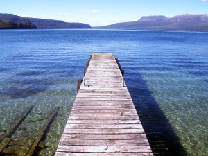 The view across Lake Tarawera.