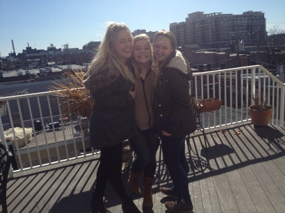 Baltimore rooftop with Annabel and Annie