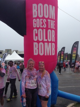 Colour Me Rad 5k with Annabel and family down in Virginia Beach