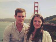 Ethan and I at the Golden Gate :) (definitely cross it on an open-top bus - the wind makes it quite an experience!)