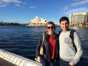 Anthony and I by Sydney Harbour