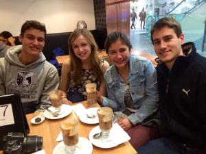 Saying goodbye to my Brazilian friends with the best hot chocolate in melbourne, at Chocolat