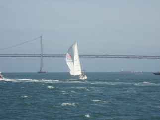 As a sailer myself, watching the Clipper on the round the world boat race in the Bay of San Fran was beautiful.