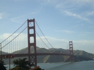 After seeing the Golden Gate in so many photos, films etc, it's quite bizzare to see it in real life!