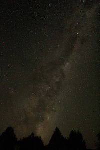 the milky way visible from our campsite!