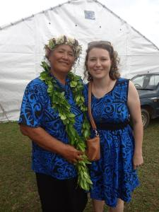 Me with Mama Tutai at the new school's opening - wearing the dress that was made for me