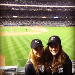 At the Yankees Stadium!