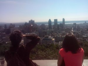 The view from Mont Royal, which the city is names after