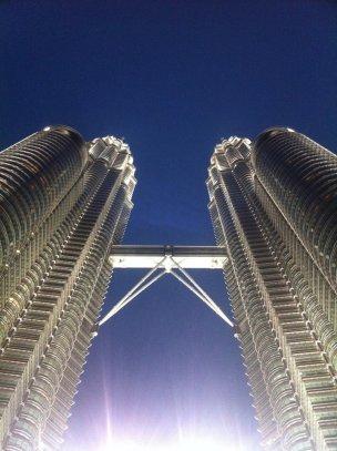 The iconic Petronas Towers in Kuala Lumpur