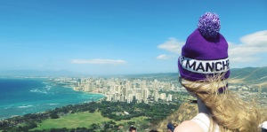 Manchester Beanie from the top of Diamond Head