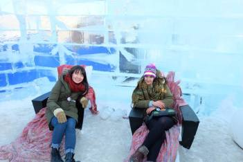 Chillin' in an Ice Castle (literally)