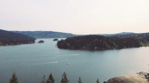 Deep Cove Hike - SFU on the mountain on the left!