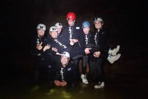 Caving with glow worms!