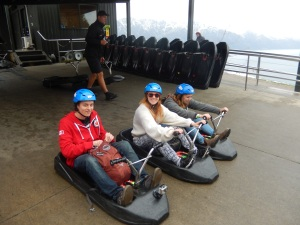 Lugeing in Queenstown