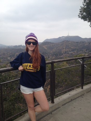 At the Hollywood sign, Los Angeles