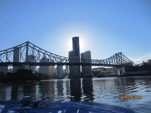 View of Brisbane on water