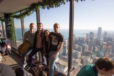 Fredrik, Nicolai, Natalia in Chicago