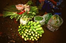 Veggies in Yangoon Street Market