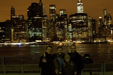 Fredrik, Nicolai, Natalia and I in New York on New Years