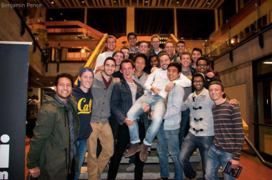 Me and the boys and SigEp when the talented Marcus (held up) won a singing contest