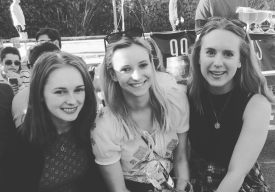 Disguising the fact the we got sunburned in 20 degree heat with a black and white filter