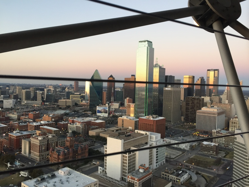 Dallas skyline from the top of Reunion Tower