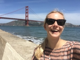 Happiness is: the Golden Gate Bridge in San Francisco, California