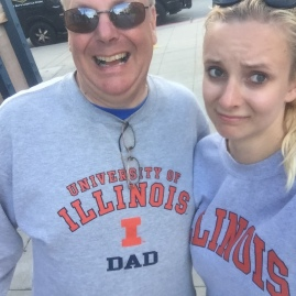 When your family has too much Illini pride in Monterey, California