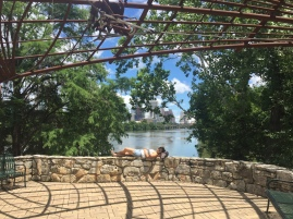 Relaxing in the sunshine in Austin, Texas