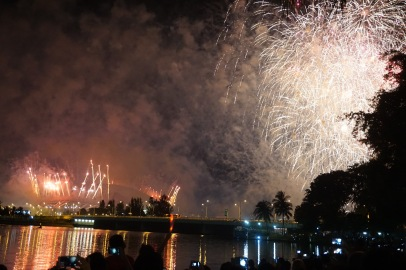 Fireworks at the Singaporean national day