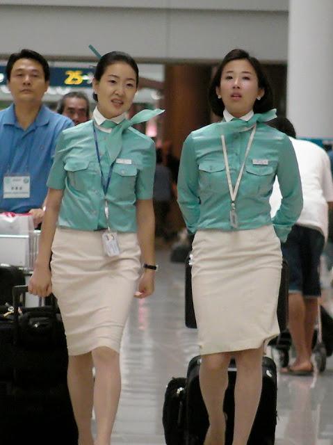 Korean Air Hostess in Airport_9