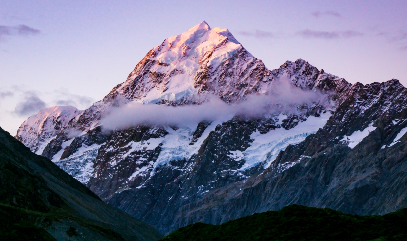 Alpenglow on Mt Cook