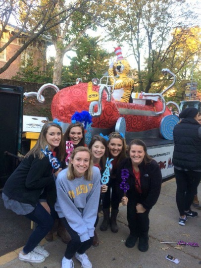 Our Homecoming Float: The Cleaning Machine
