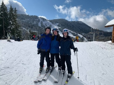 Learning to ski at Cypress Mountain
